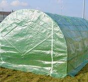 POLYTUNNEL 6x3x2 m med galvaniserad stomme fraktfri